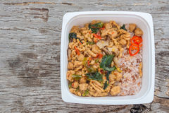 Ready to eat rice box fastfood for lunch Royalty Free Stock Photos