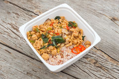 Ready to eat rice box fastfood for lunch Royalty Free Stock Image