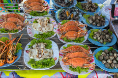 Ready to eat seafood Royalty Free Stock Photo