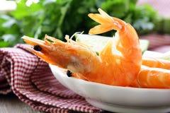 Ready to eat shrimp Stock Photo