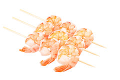 Ready to eat shrimps isolated on a white background Royalty Free Stock Photo