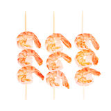 Ready to eat shrimps isolated on a white background Stock Photo