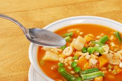 Ready to eat vegetable soup Royalty Free Stock Image