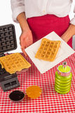 Ready to eat waffles Stock Image