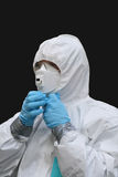 Ready to face the asbestos royalty free stock image