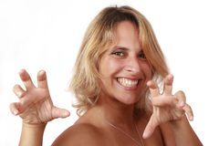 Ready to fight. Portrait of a beautiful woman expressing happiness Stock Photo