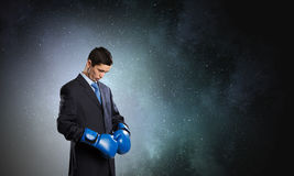 Ready to fight for success Royalty Free Stock Photo