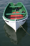 Ready to go. Rowing boat is tied upto the quay waiting for its owner to use it Royalty Free Stock Photos