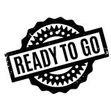 Ready To Go rubber stamp Stock Photography