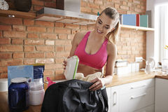 Ready to go to the gym Royalty Free Stock Images
