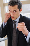 Ready to hit a punch Royalty Free Stock Photography