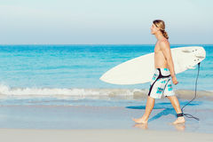 Ready to hit waves Royalty Free Stock Photo