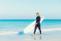 Ready to hit waves Stock Images