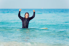 Ready to hit waves Stock Photos