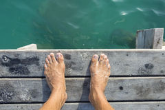 Ready to jump in royalty free stock photo