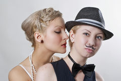Ready to kiss Stock Images