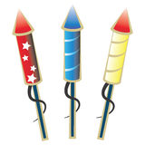 Ready to launch firework rockets Stock Image