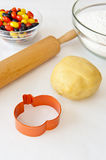 Ready to Make Halloween Cookies Stock Images