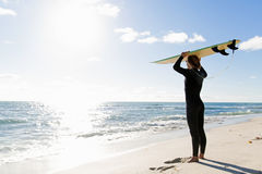 Ready to meet waves Stock Images