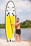 Ready to paddle. Stock Image