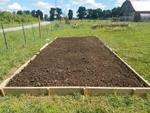 Ready to Plant. Raised bed ready to plant Royalty Free Stock Photography