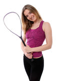 Ready to play squash Royalty Free Stock Photo