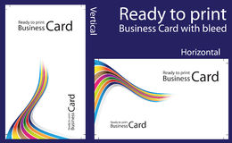 Ready to print Business Card. With bleed Stock Photography