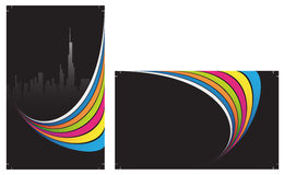 Ready to print Business Cards. Business Cards on the black background Stock Images