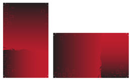 Ready to print Business Cards. On the red background Royalty Free Stock Photo
