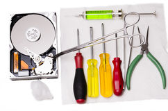 Ready to repair hard disk Stock Images