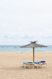 Ready to rest. Ready to relax on the beach Royalty Free Stock Photo