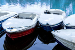Ready to ride pedal boats Royalty Free Stock Photos
