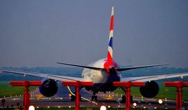 Ready to roll. British Airways Boeing 787-8 at Newcastle Airport stock image