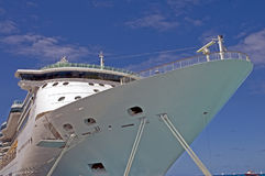 Ready to sail..last call. Cruise ship in port, getting ready to set sail Royalty Free Stock Photo