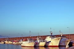 Ready to sail. Some boats waiting to sail for fishing Royalty Free Stock Photos