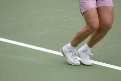 Ready To Serve. Tennis Player Ready to serve Royalty Free Stock Photo