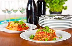 Ready to serve lasagne Royalty Free Stock Images