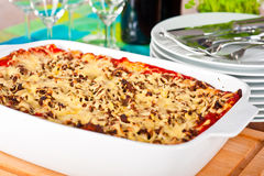 Ready to serve lasagne Royalty Free Stock Photo