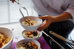 Ready to Serve Udon with Tempura Royalty Free Stock Photography