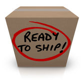 Ready to Ship Cardboard Box Mailing Package Order In Stock Stock Photos