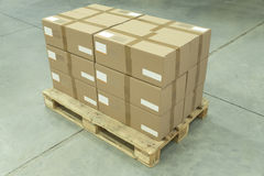 Ready to Ship Cardboard Boxes Royalty Free Stock Images