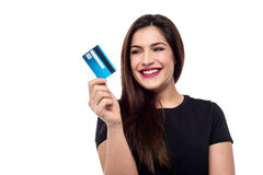 Ready to shop with credit card ! Stock Photos
