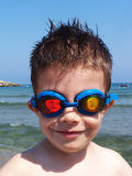 Ready to Swim. My son is ready to swim stock photos