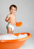 Ready to take bath Royalty Free Stock Image
