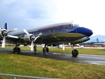Ready to take-off !. Old DC 6 royalty free stock image