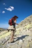 Ready to trekking on stone path Stock Photos