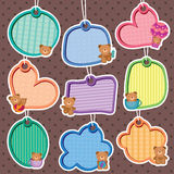 Cute Bear Frames Set vector illustration