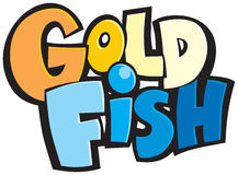 Ready-to-use logotype Gold Fish royalty free stock photos