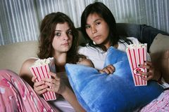 Ready to watch a movie Stock Images