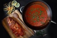 Ready Tomato And Scorpionfish Sauce Stock Image